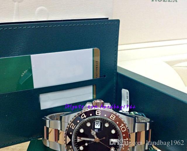 Рождественский подарок оригинальный футляр сертификат мужские часы 126711 40 мм нержавеющая сталь, розовое золото Азия 2813 механизм с автоподзаводом
