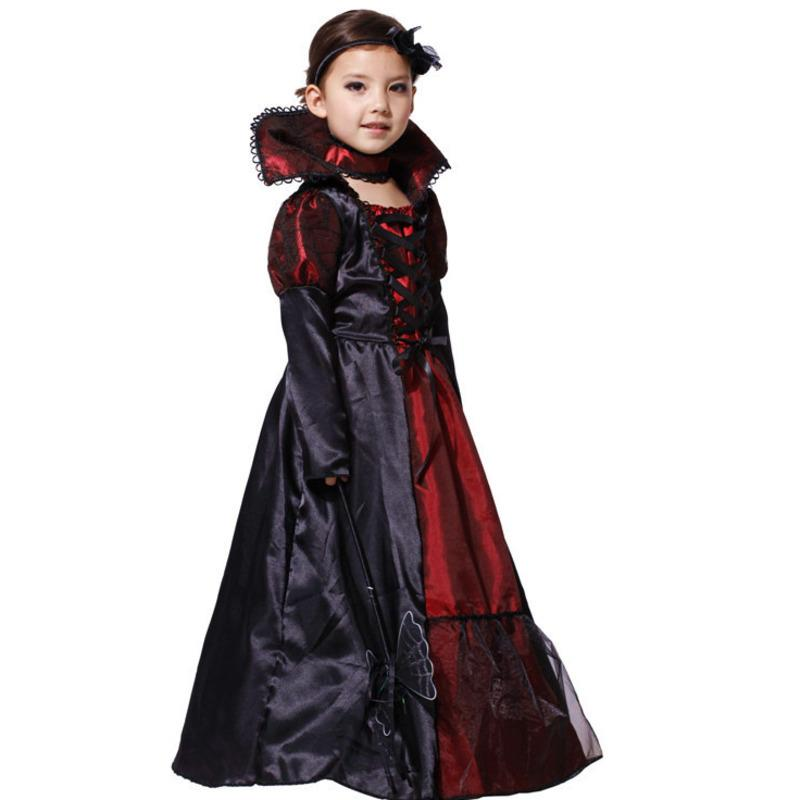 Дети вампир ведьма хеллоуин костюм для детей карнавал ну вечеринку принцесса необычные платья фантазия хэллоуин карнавал косплей вечеринка