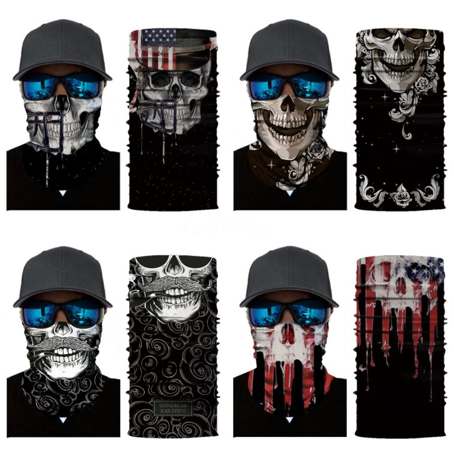WKsFu Máscaras QualityOutdoor Seamless versátil mágico do crânio Cachecol Rosto equitação Skull Scarf Ciclismo Máscara Top Aqueça Lenço Dia das Bruxas # 303
