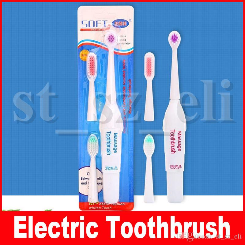 Electric toothbrushes with 2 soft Replacement Heads adult toothbrush wholesale card installed 3 in 1