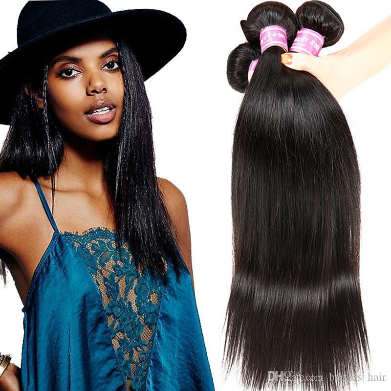 Bemiss New Arrival Hot Sales Brazilian Peruvian malaysian Mongolian Cambodian Virgin Human Hair Weive Natural Black 100g pcs Straight