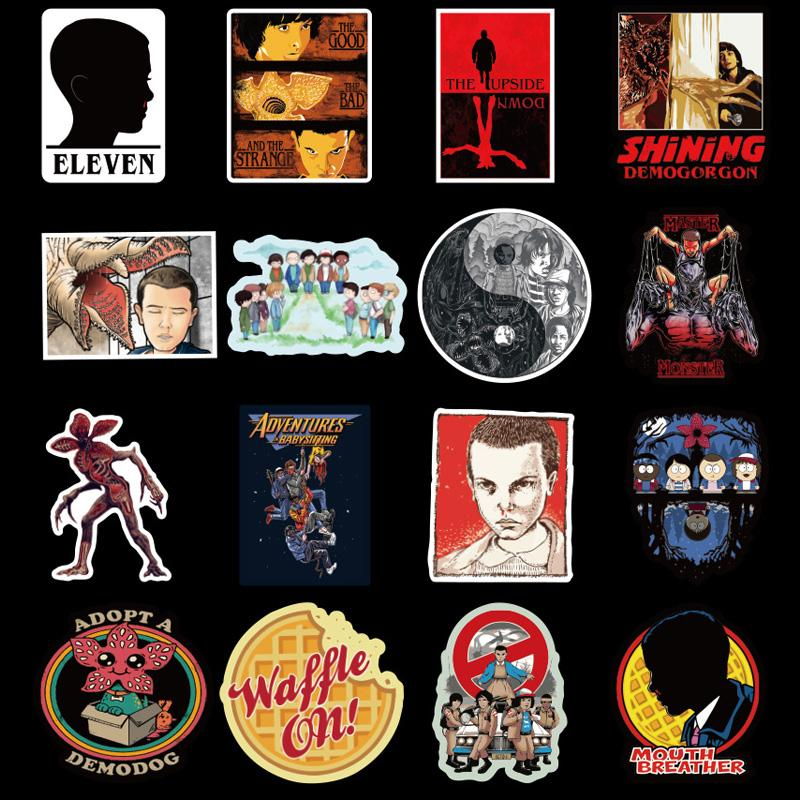 100 PCS Very Stranger Things Stickers Pack . Movie Strenger Thing For Boys Laptop Luggage Suitcase Travel Skateboard Sticker