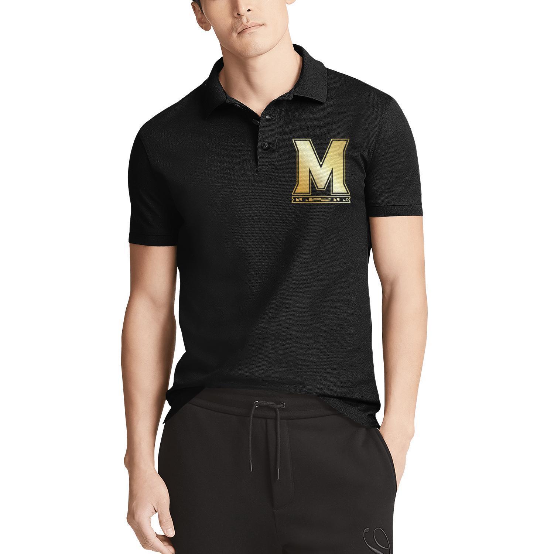 Mens logo Maryland Terrapins Basketball Gold logo noir en coton Polo Shirt Classic Personnalisé Musicalement Gay fierté arc-en-ciel