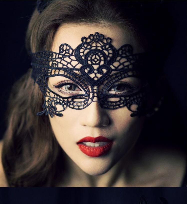 1pcs Sexy dentelle Eye masque masques mascarade de mariage voile en dentelle découpée broderie cotillon partie de bachelorette partie masque mystérieux