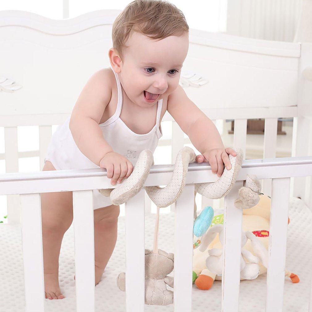 Hot! Cartoon petit ours animal Lapin voiture Hanging bébé Jouets Hanging mobile hochets du nouveau-né jouets pour bébés en peluche pour les garçons Bébés filles