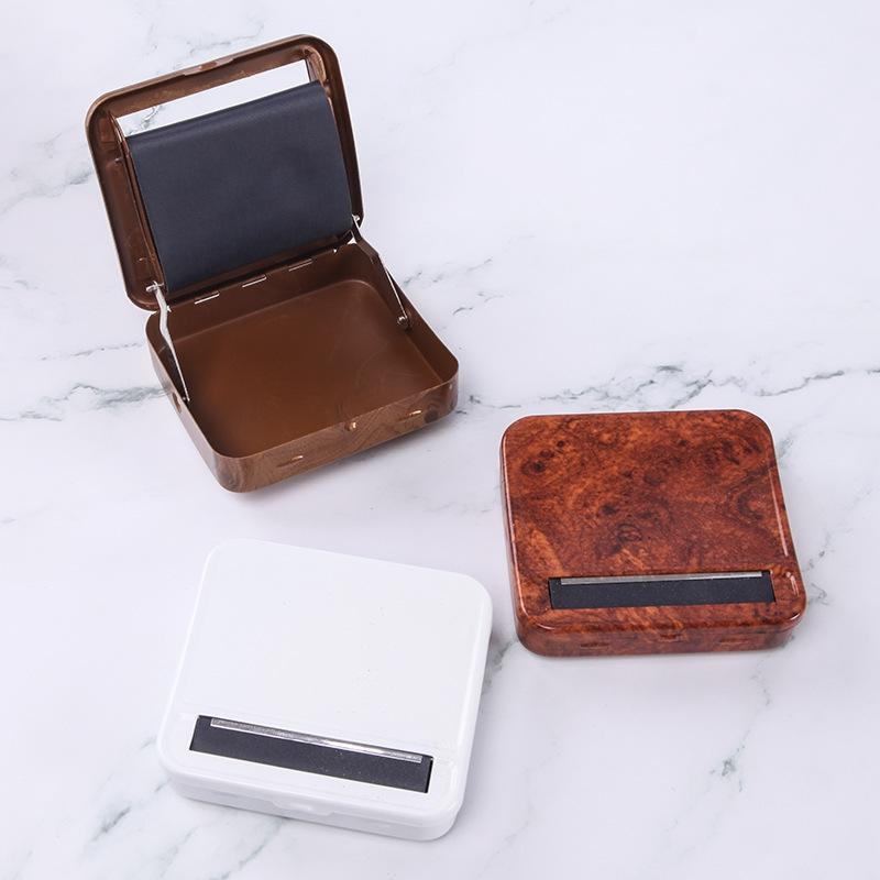 Nouvelle cigarette en métal coloré machine ouvrier boîte cas conception novatrice du tabac Portable Herb sec Anté prélaminage roulant fumeurs outil