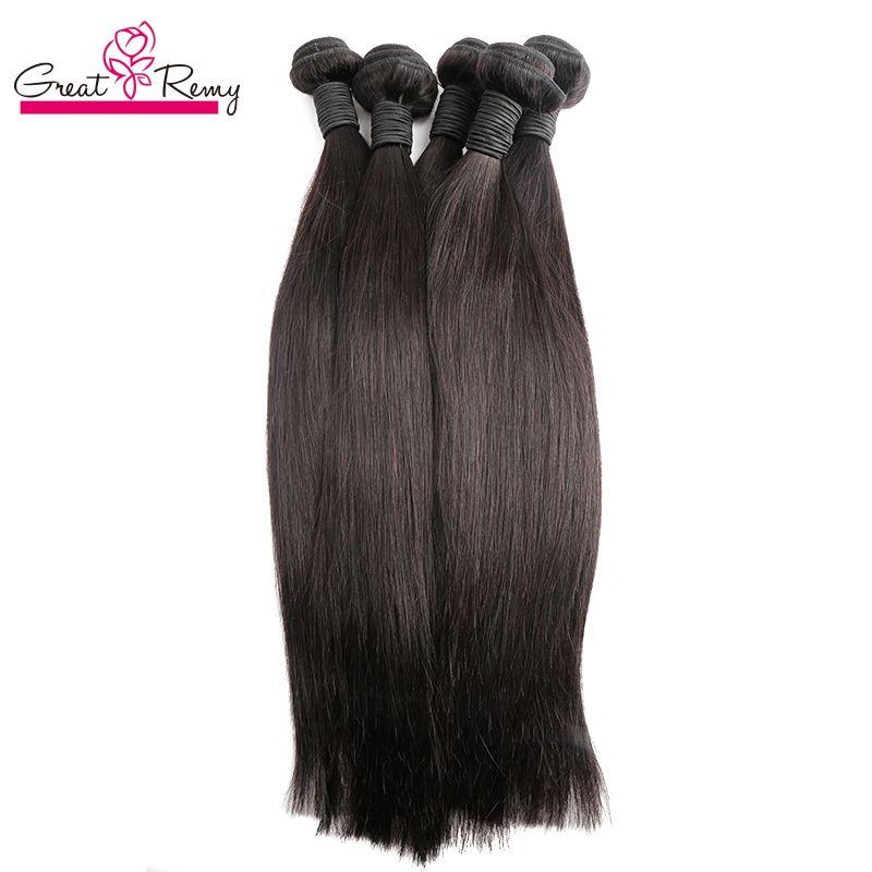 Grealetremy Indien Brésilien Vierge Virgin Virgin Virgin Hair Extensions Silky Strated Casebundles de coiffure 4PCS / Lot Double Extension de trame
