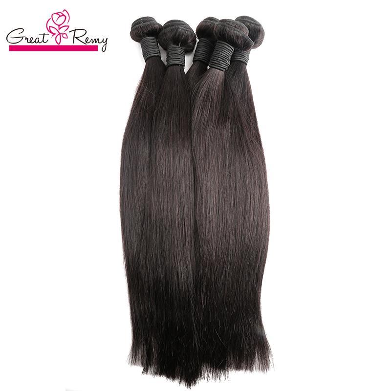 100% Temple Virgin Indian Hair Buntlar Billiga buntar av våt och vågig Human Remy Hair Weave 8-24inch Rak Hårväft Greatem