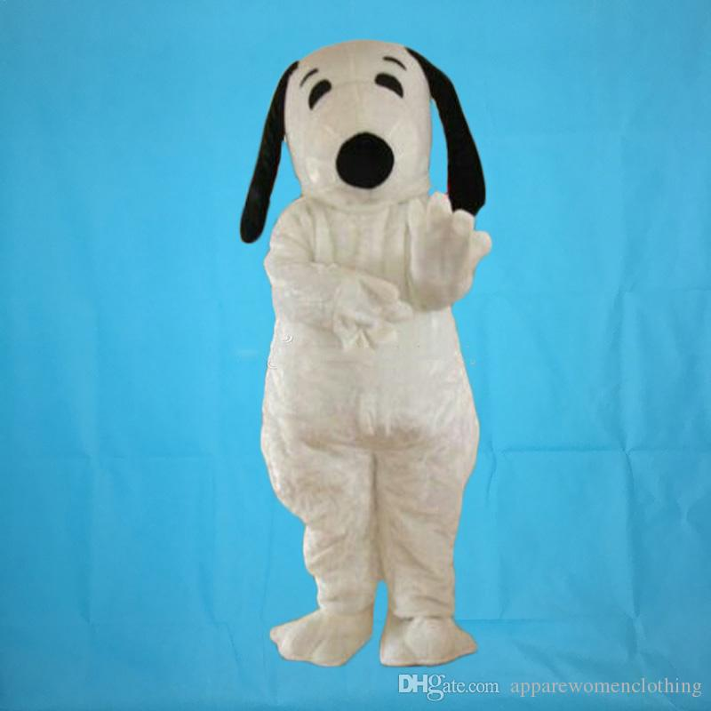 Hot sale adult white plush snoopy dog mascot costumes fancy costumes Free shipping