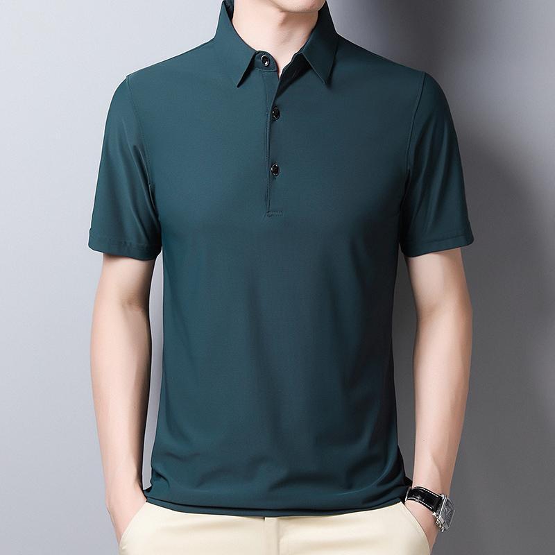 Men's Shirts New Style Summer Short Sleeve Solid Slim Business Work Shirt For Men