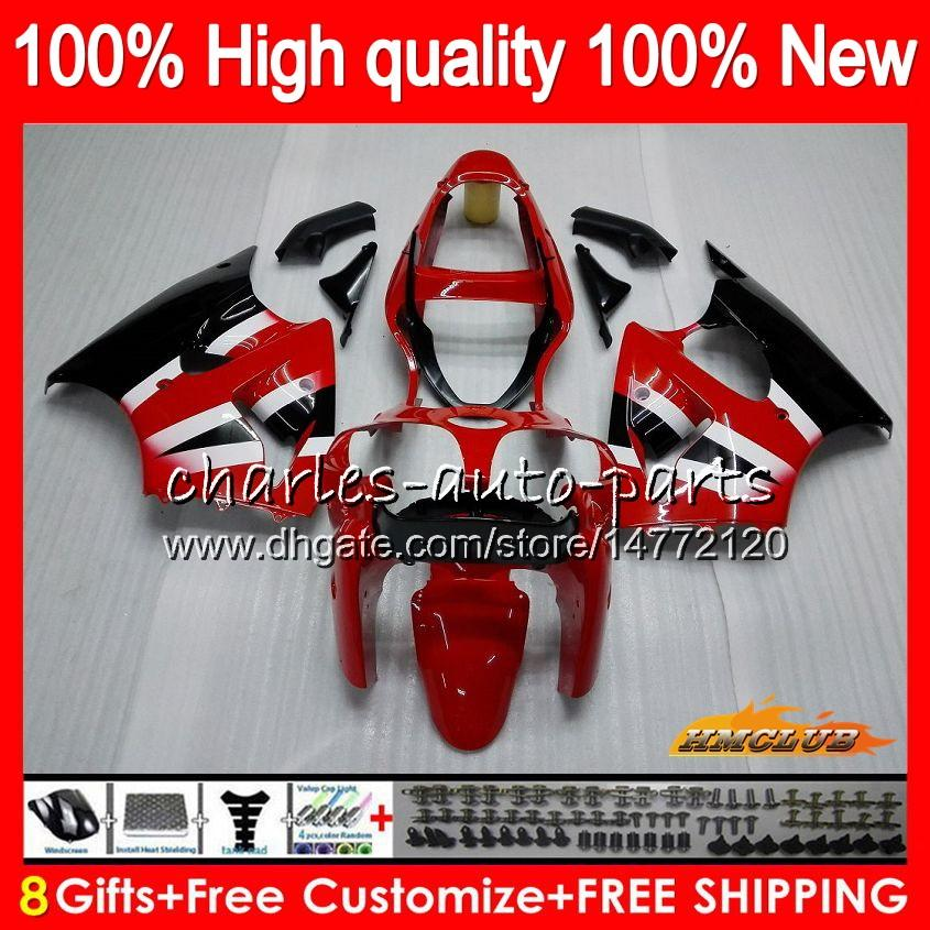 Kawasaki Ninja ZZR600 05-08 zx zzr-600 600 CC 공장 빨간색 판매 05 06 07 08 Cowling 38HC.21 ZZR 600 600CC 2005 2006 2007 2008 100 % 맞는 페어링 키트