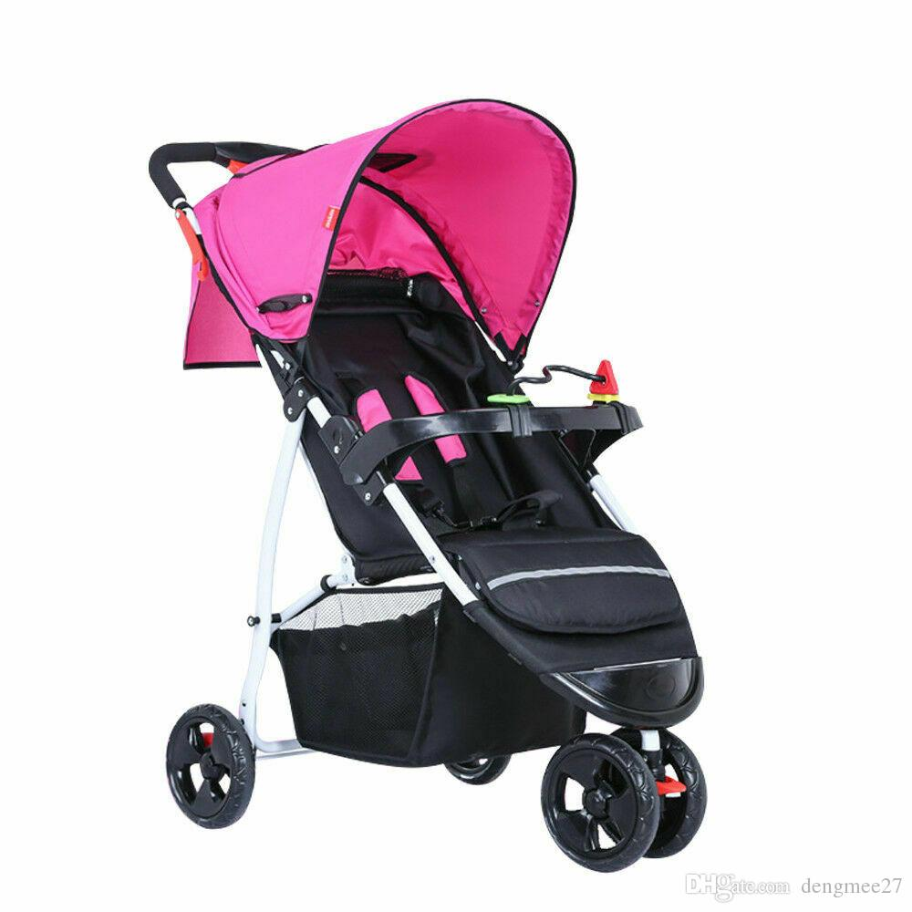 Foldable Baby Stroller Travel Lightweight Pushchair Pram Toddler Buggy Kids Uk