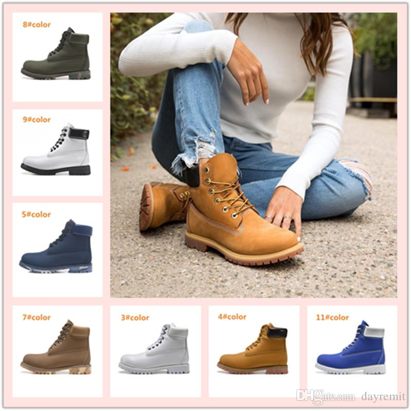 Uomo Donna stivali impermeabili esterne casual Martin Coppie Scarpe scarpe da trekking sportive di marca Genuine Leather Warm Snow Boots High Cut inverno