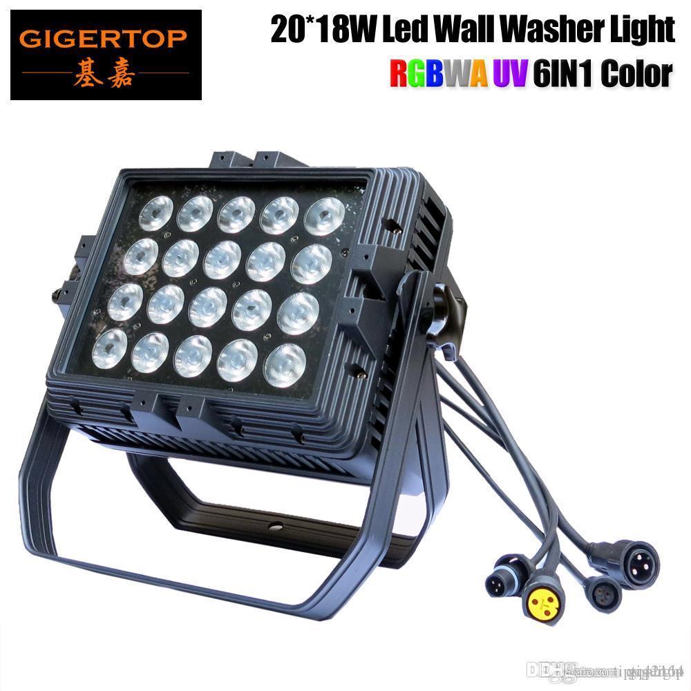 ТИПТОП 20x18W 6 в 1 водоустойчивый свет шайбы стены Сид адвокатского сословия черный светло-тур/фоновой шайбы Сид наивысшей мощности освещения