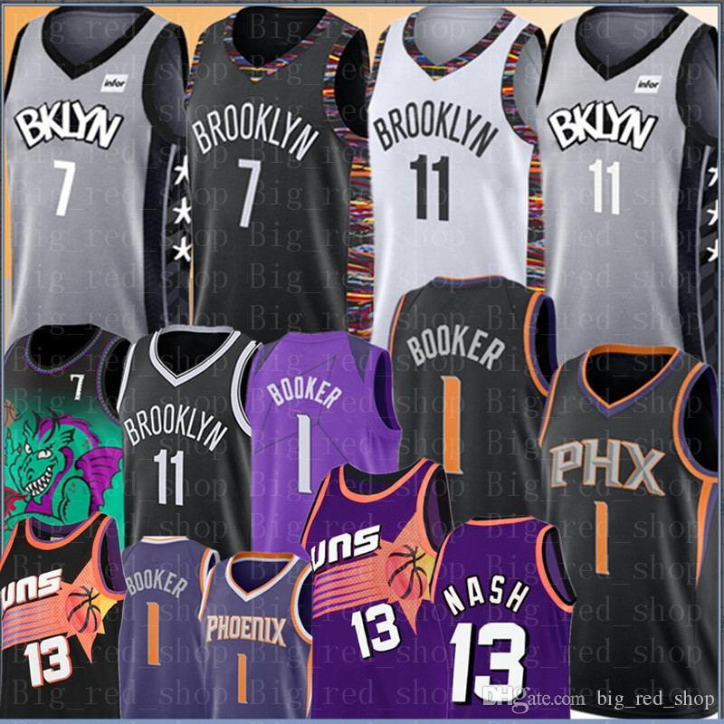 7 Kevin Durant Kyrie NCAA 11 Irving jersey College Devin 1 Booker Steve Camisetas de baloncesto Venta al por mayor barata