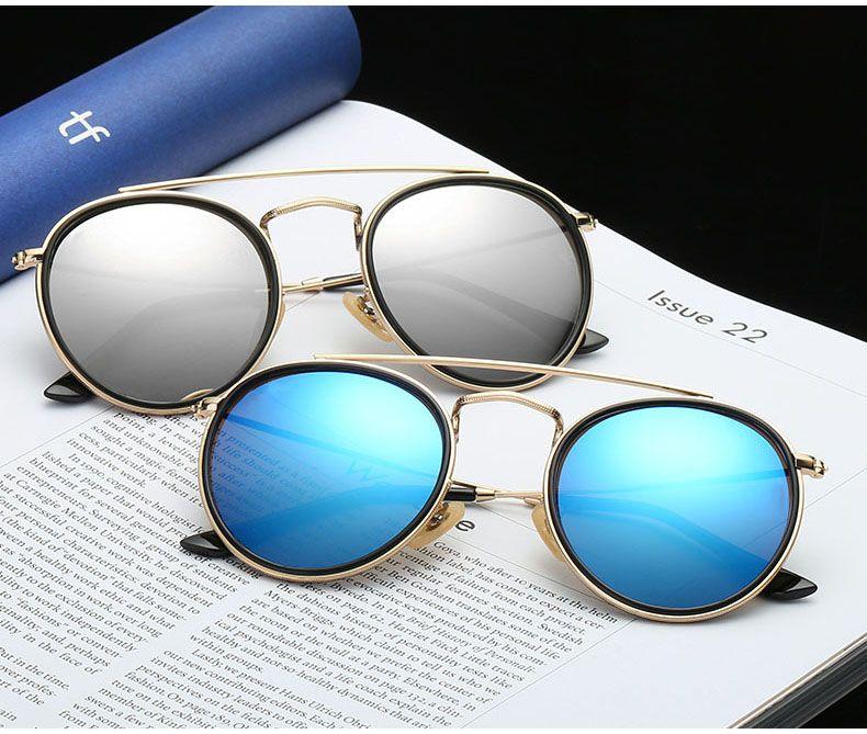 Lunettes de soleil rondes en métal de concepteur en gros hommes femmes Steampunk lunettes de mode lunettes de soleil rétro vintage avec des cas gratuits et boîte