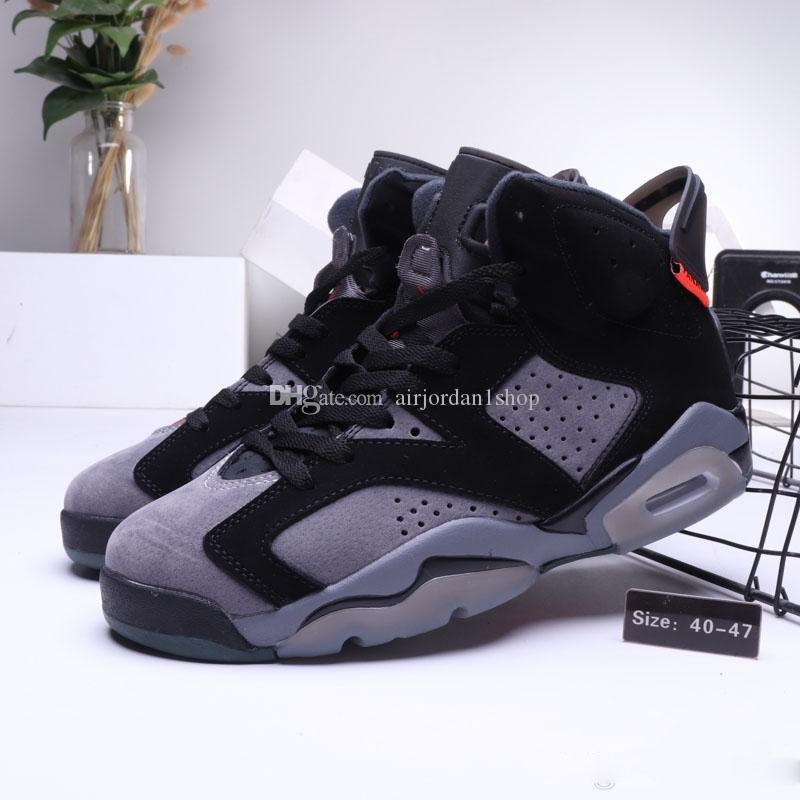 Nova Chegada 6 PSG Paris Homens Tênis De Basquete Cinza De Ferro Infravermelho 23-Black 6 s PANAME mens designer sports sneaker com caixa