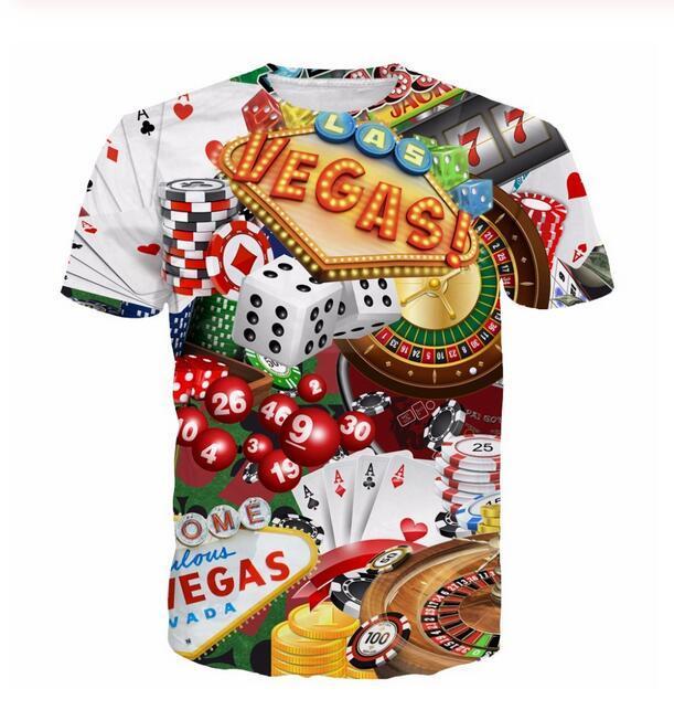 New Fashion Mens Womans Alles über Las Vegas Swag T-Shirt Sommer Stil Lustige Unisex 3D Print Casual T-Shirt Tops Plus Size DXR011