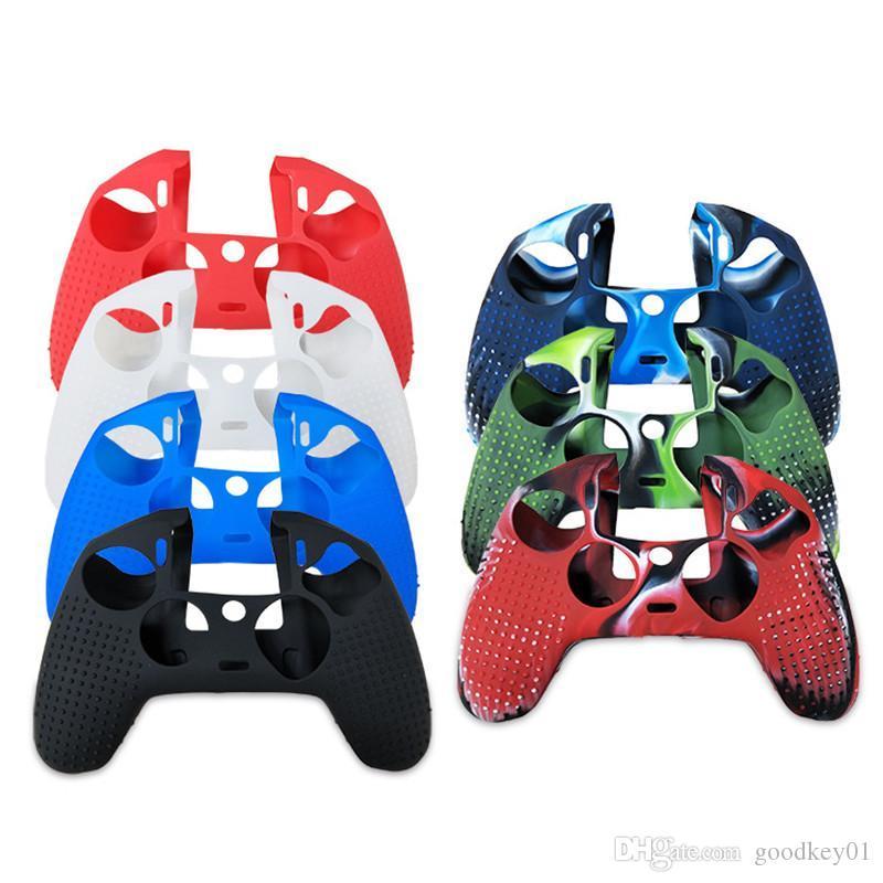 7 ألوان مكافحة زلة سيليكون حماية الجلد الحال بالنسبة لبلاي ستيشن 4 PS4 Nacon 2 حالة وحدة تحكم لينة قبضة PS4 اللاسلكي 603 # 2