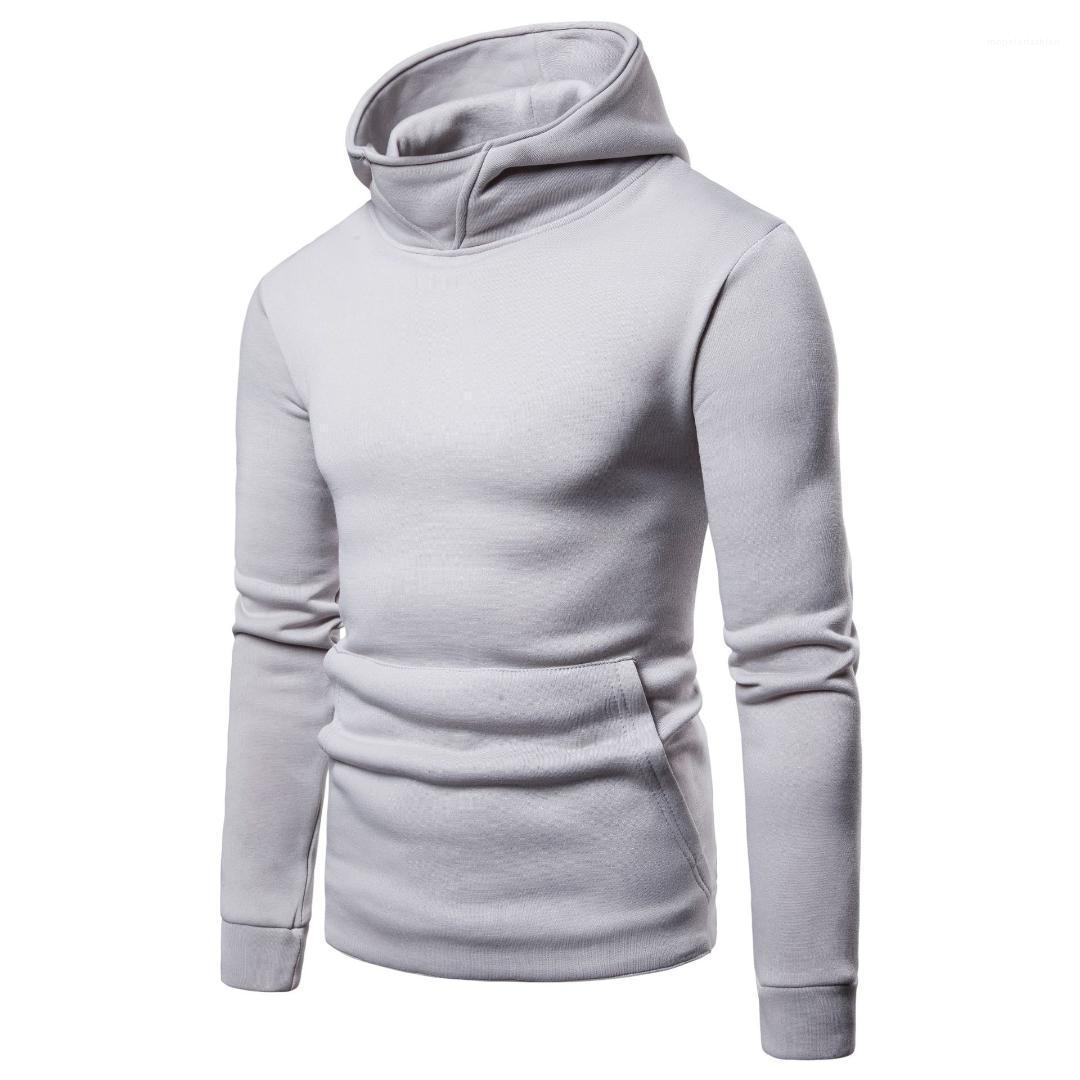 Casual Sweatshirts Tops Langärmlig Kleidung für Hommes Mens Solide Hoodies Frühling Herbst Männlich