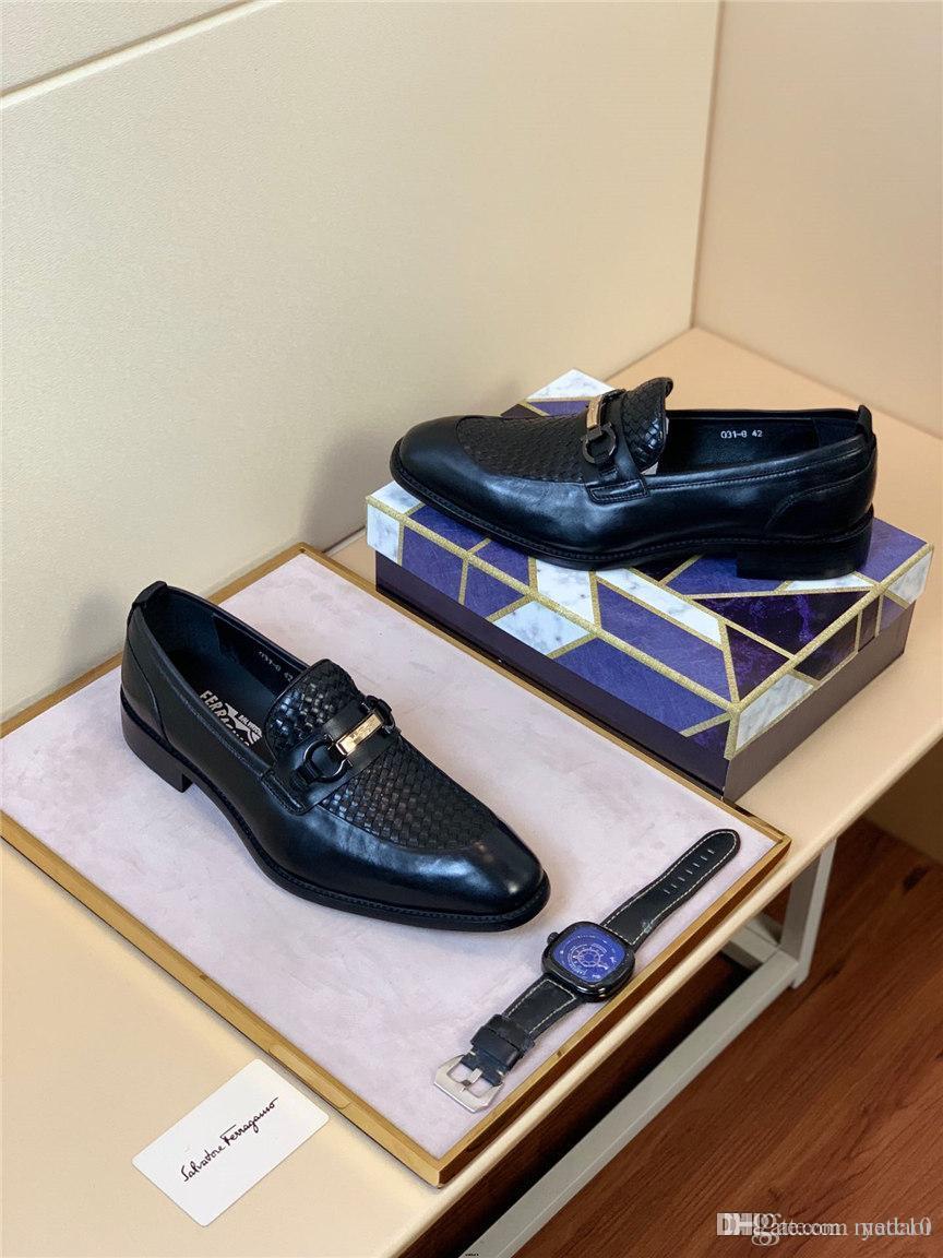 20MM Marcas MAN Retro Negócios Sapatos de couro Fashion Party Itália vestido do escritório formais Shoes New Confortável Luxo MAN Loafers MADAOI