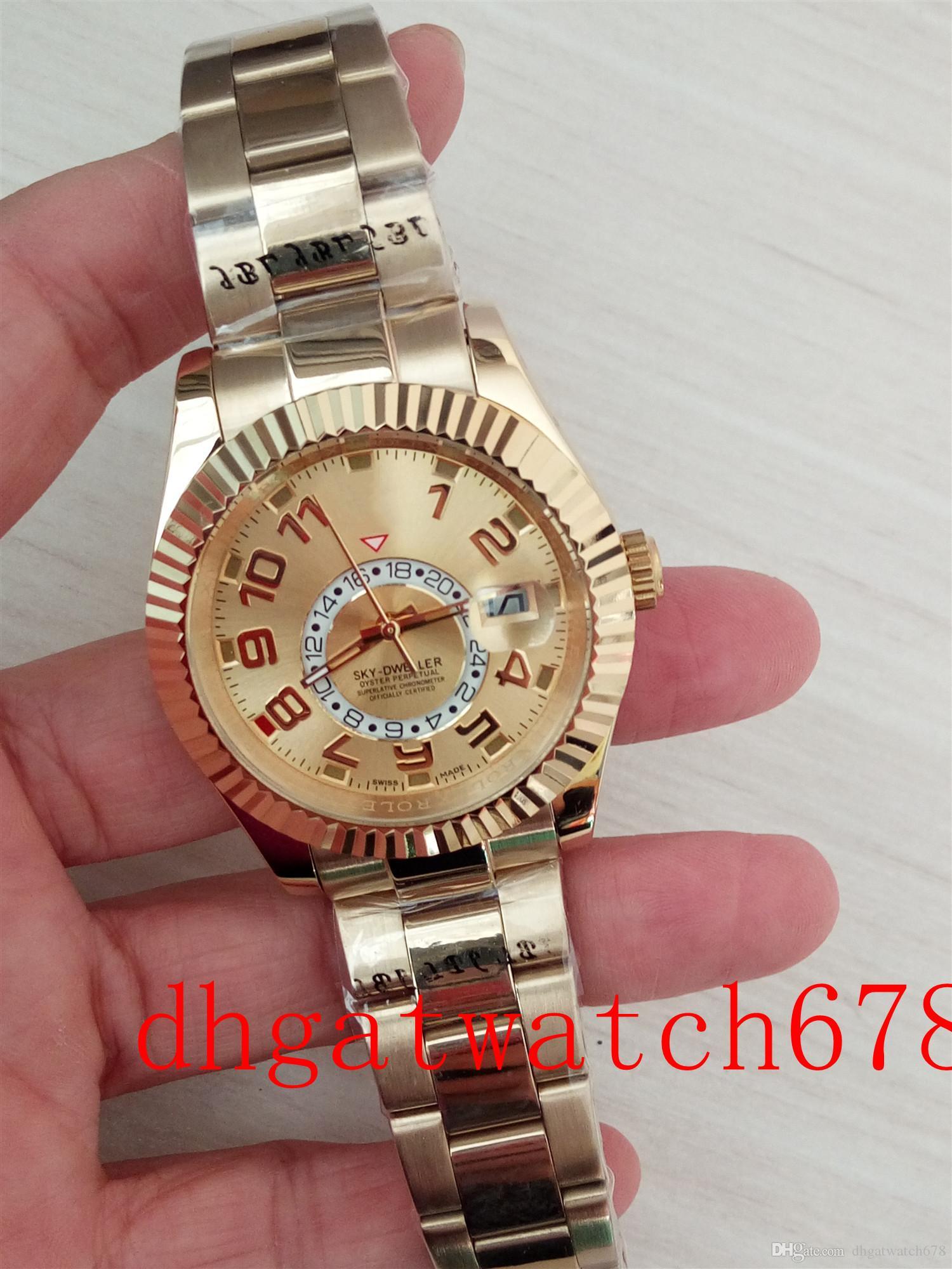 Neue Luxus-326938 18 Karat Gold Champagner Farbe Digital-Dial 41mm automatische Art und Weise Uhr der Männer Uhr