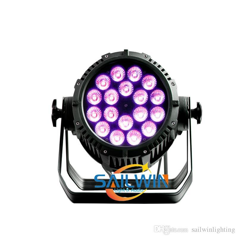 سعر المصنع الطاقة العالية في الهواء الطلق IP65 للماء 18x18w أحداث مرحلة 6in1 RGBWAUV أدى ضوء يمكن الاسمية