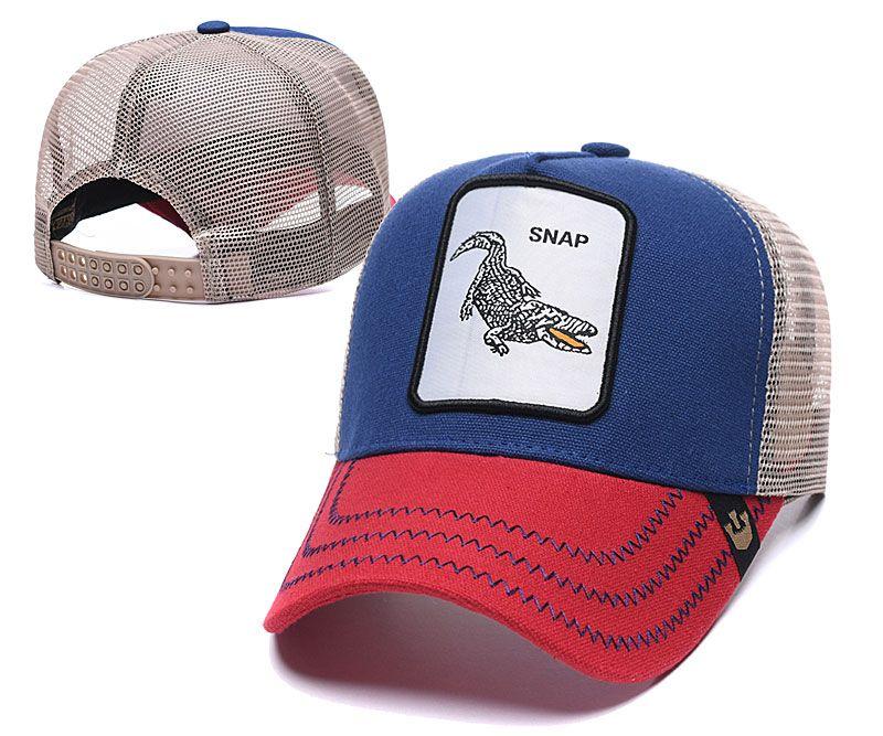 Sommer-Netzkappen Mode Visor Netz Hutfrauen Männer Stickerei-Snap Alligator Baseball Caps Adjustable Snapback Tiere Hat Golf-Ball-Kappe