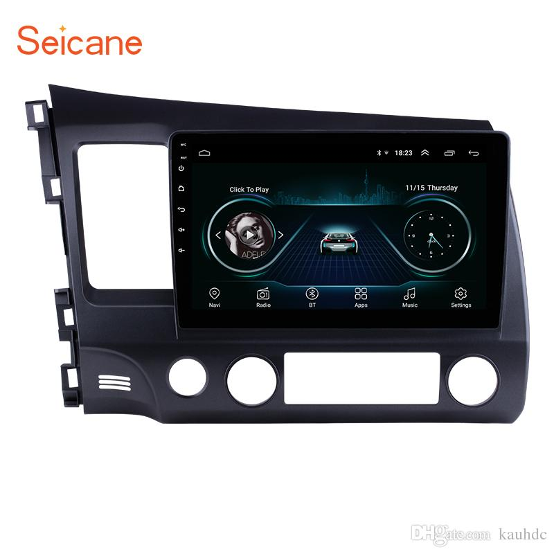 10.1 inch 1024*600 HD Touch Screen Android 8.1 Car Radio GPS Navigation for 2006-2011 Honda Civic with Bluetooth WIFI AUX support 1080P OBD2