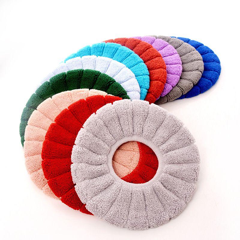 Nueva llegada !! lavables de asiento de inodoro cubierta cómodo tela no tejida suave del amortiguador de asiento del inodoro cojín de tela suave CoverA08 asiento del inodoro