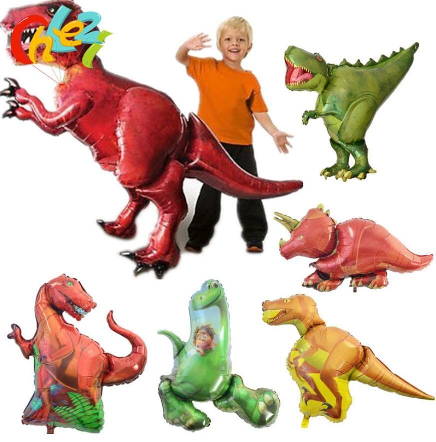Jurásico Globo de dinosaurio gigante Niños Globos animales Fiesta de dinosaurio para niños Decoraciones de cumpleaños Globos de helio Juguetes para niños