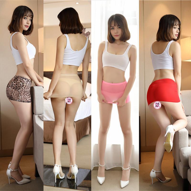 Femmes Sexy Micro Rouge Noir Jupes See Through Mini court mignon transparent jupe Night Club Tight Forfait Hip Jupe 77
