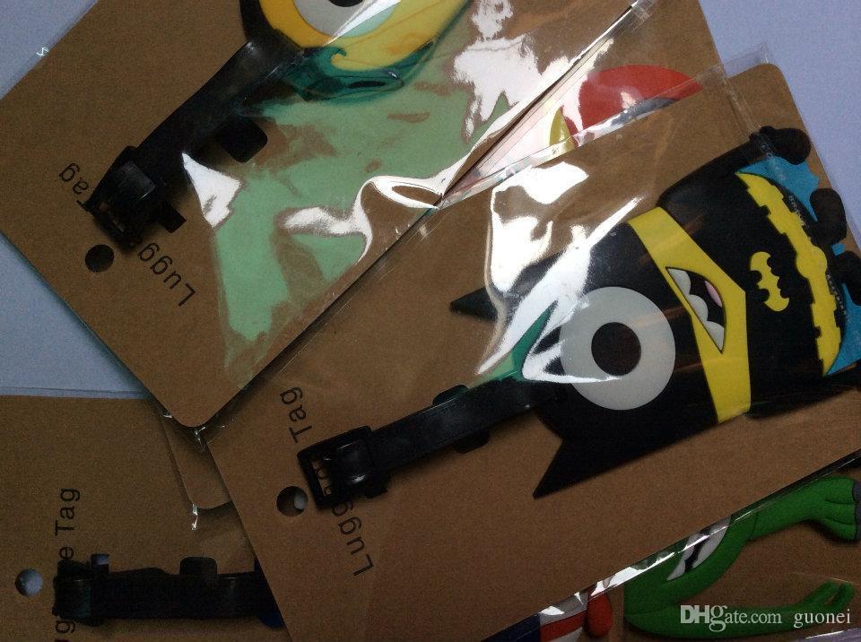 Designer-New Luggagebags nette Karikatur-Funky Reise-Gepäck-Koffer Kofferanhänger Identität Adresse Name Drop Shipping