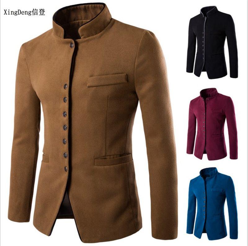 XingDeng queda 2018 homens ternos chineses jaquetas Blazer Para Qualidade Blazers Slim Fit top de algodão revestimento roupa traje Homme T200324