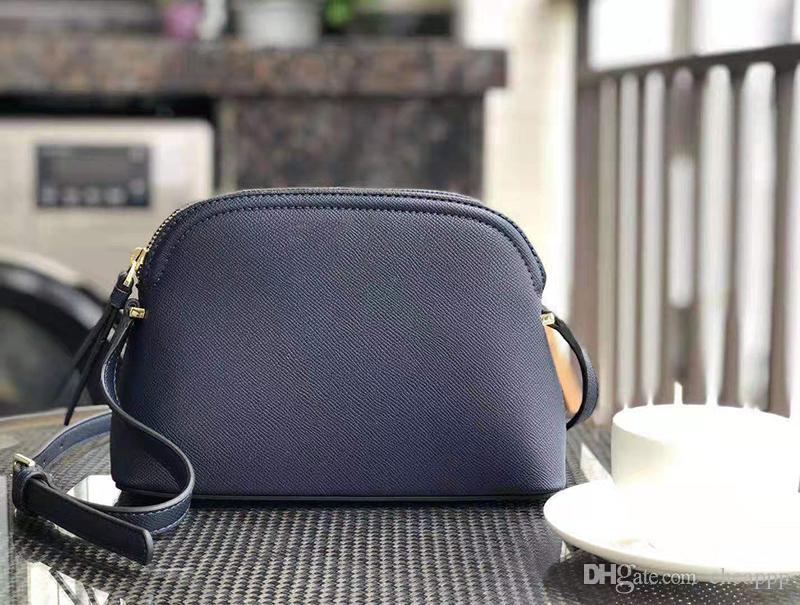 Marke Entwerfergeldbeutel Schultertaschen Handtaschen Umhängetasche PU-Kreuzkörper Frauen 6 Farben Shell Geldbörse