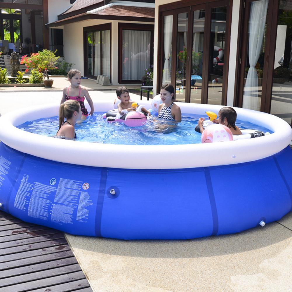 Outdoor Inflatable Swimming Paddling Pool Yard Garden Family Kids Play Large Adult Infant Inflatable Swimming Pool Child Ocean Pool Plus