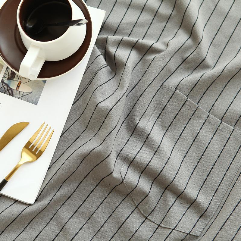 8322 Простой Североевропейские-Стиль Stripes Чистый хлопок Кухня Большой размер Фартук Antifouling Внутренняя чистка верхней одежды Фартук
