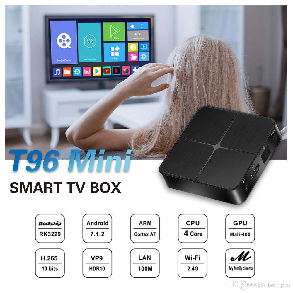 Android TV Box OTT TV Box 4K blackpcs Digital converter UHD UK/US Quad Core 8G 2.4G WIFI Media Player
