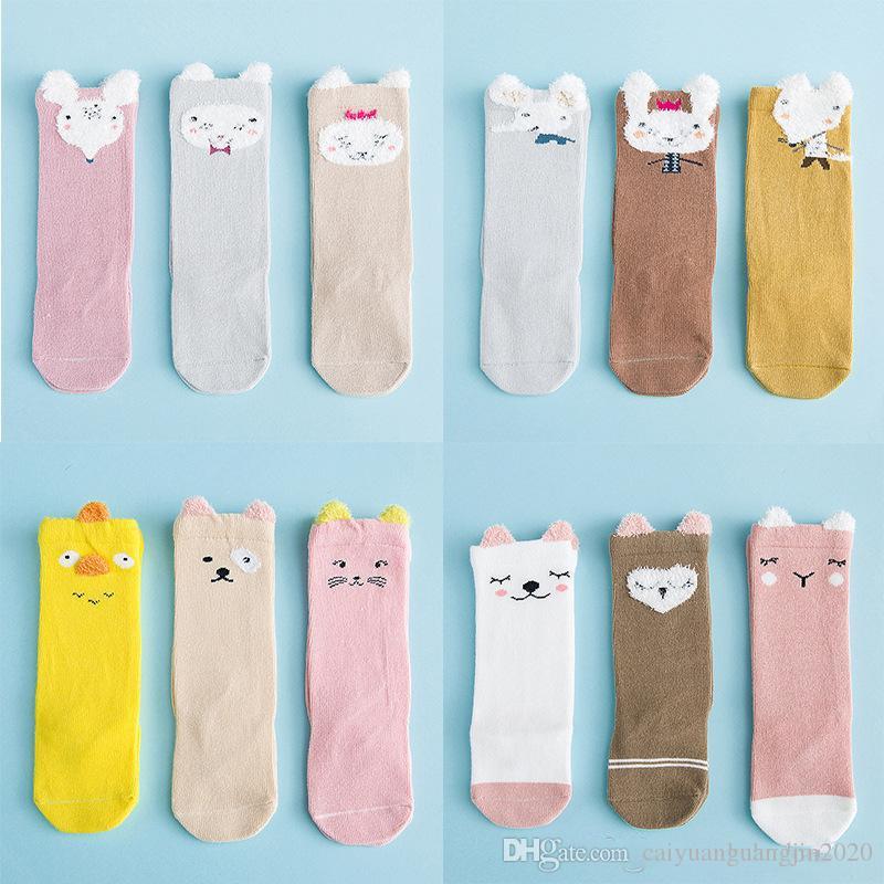 Детские носки осенние и зимние хлопчатобумажные детские носки с высокой трубкой новорожденные детские носки хлопчатобумажные 0-3 лет