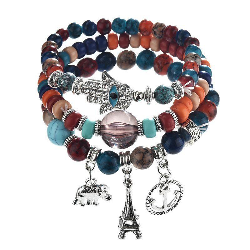 Women/'s Bohemian Retro Vintage Elephant Bracelet Jewelry US Seller