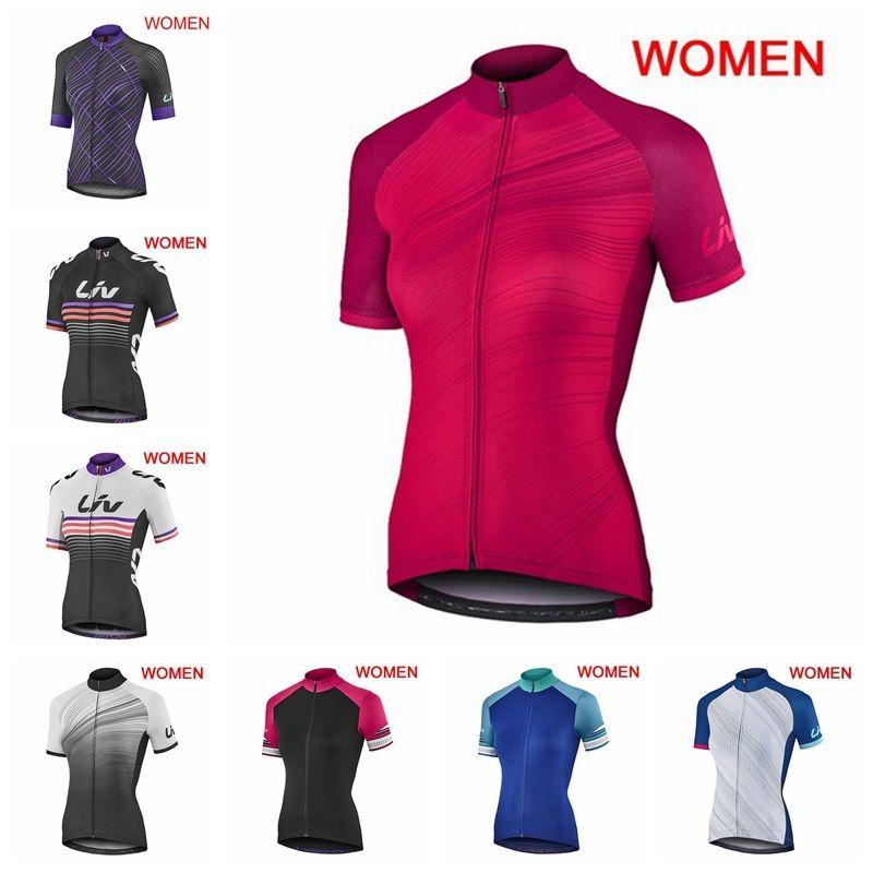 Nuevo 2019 LIV Mujer Jerseys de ciclismo Verano transpirable bicicleta de montaña en bicicleta de montaña camisa de manga corta Tops MTB Sportswear K051009