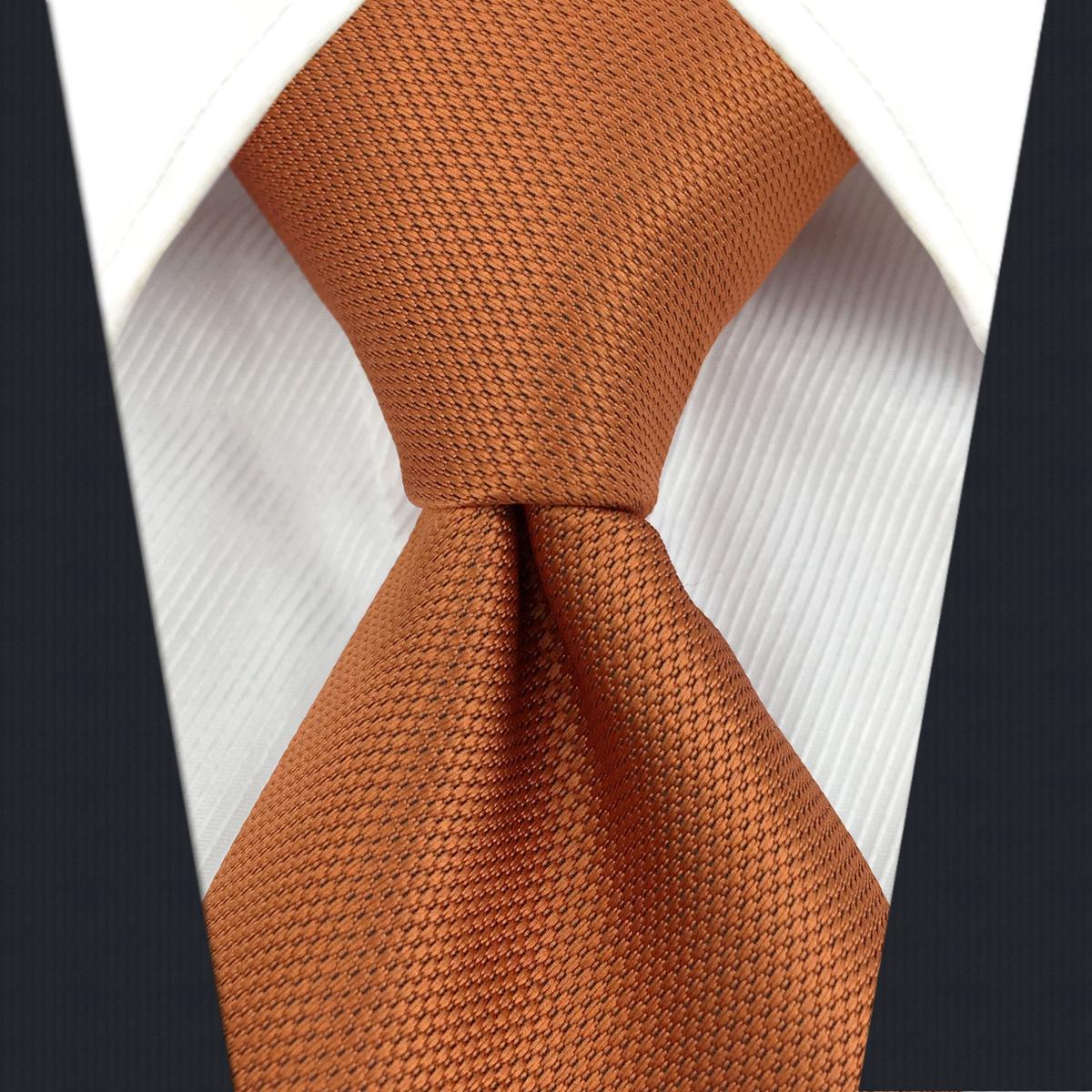 C16 Твердые оранжевые шелковые мужские галстуки галстуки мода Свадебные асмены Новые удлиненные галстуки для мужчин