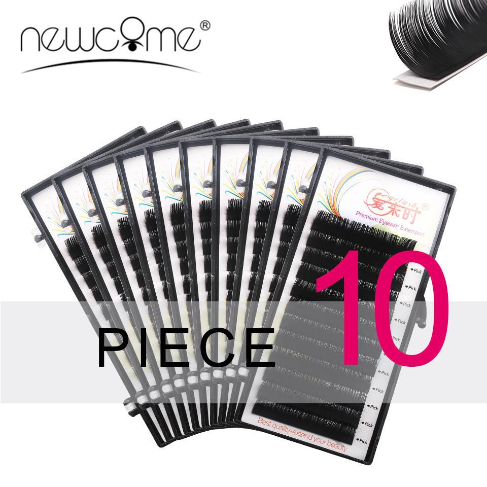 All Size Eyelashes Extensions 10 Cases Eye Lashes Bcd Curl Korea Silk Individual False Fake Eyelash Makeup Tools