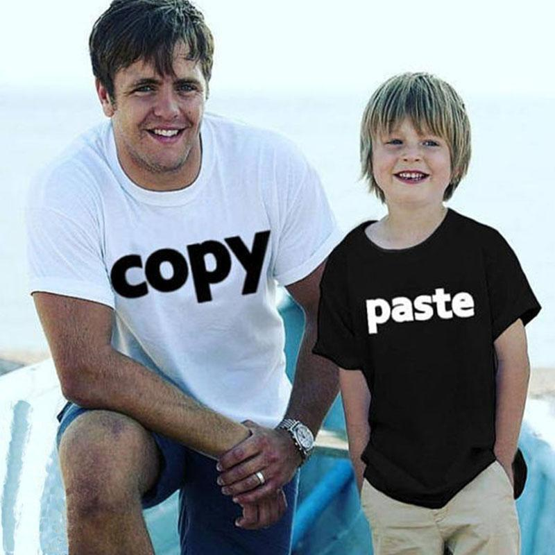 Familie T-Shirts beiläufige kurze Hülsen-Herz-Druck-T-Shirt Sommer Mutter Tochter Familie Matching Tees Vater-Sohn-Familie Schauen Sie Tops DD66