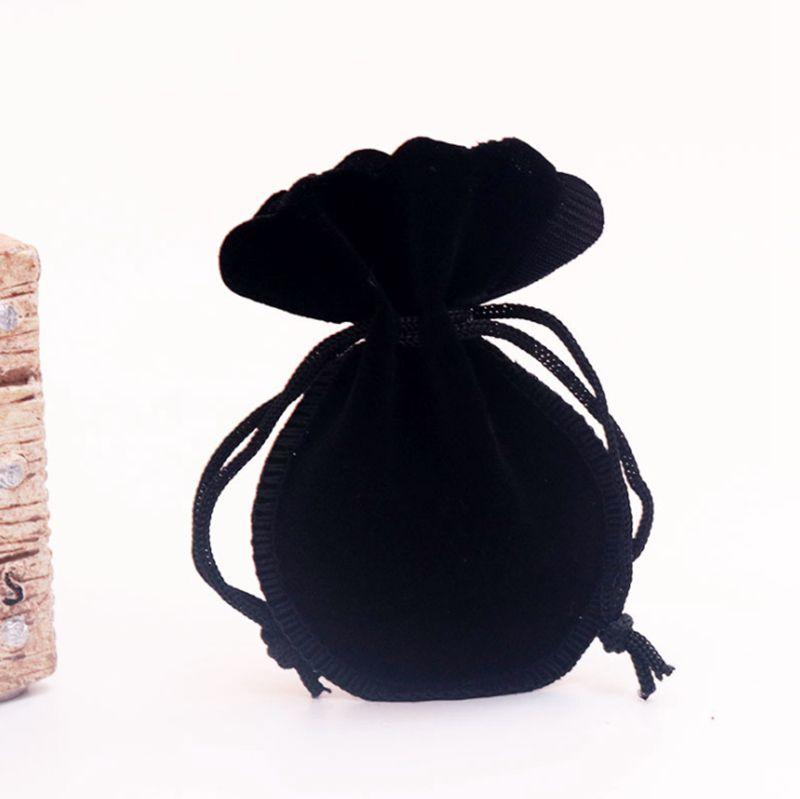 Bolsa de terciopelo para el collar de la joyería Bolsas de empaque Bolsas para bolsas de regalo Tamaño 8 * 10 cm