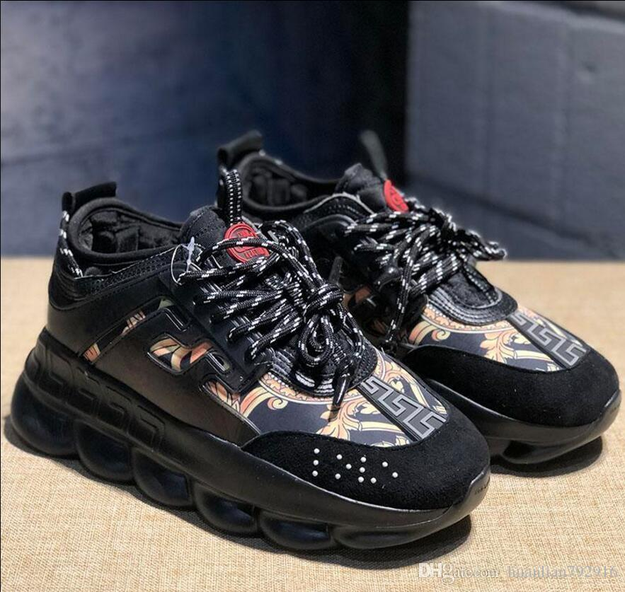 2020 Ew ChainDesigner Luxury Shoes Men Women Casual Sneakers Snow Leopard Black White Fashion CasualVERSACE ShoesReaction From Huanlian792916,