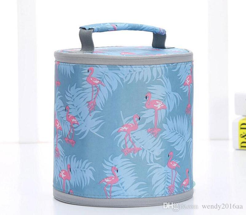 17cmx20cm Barrel Insaluted Lunch Box Bags Dinner Plate Sets Handbags Travel Gadgets Closet Organizer Kitchen Accessories