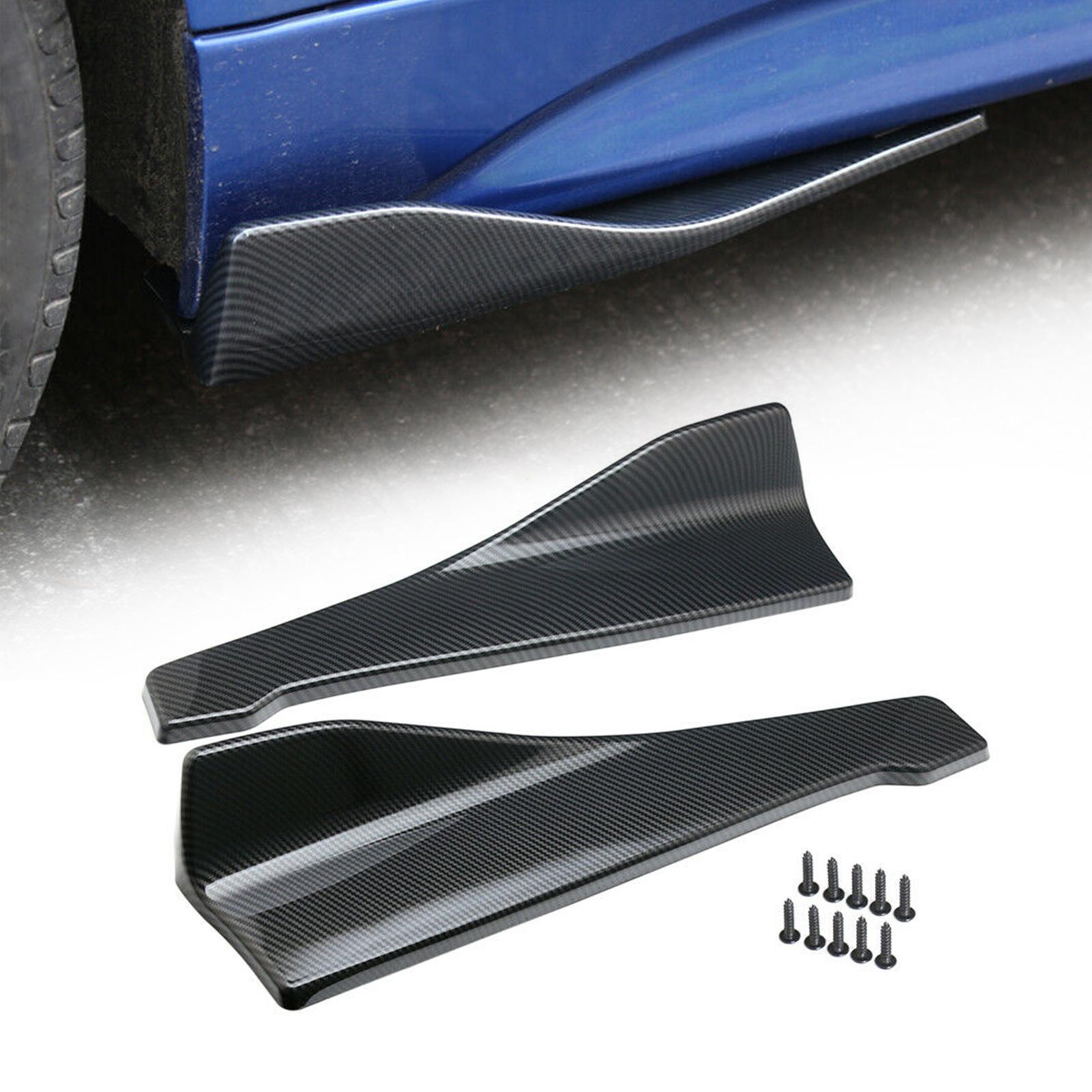 Areyourshop Автомобиль 48см юбка спойлер сзади для губ / бокового удлинительного удлинительных сплиттеров Winglet Wings автомобильные аксессуары