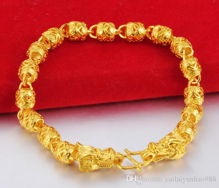 Vietnã Shajin banhado a ouro 24k jóias a céu aberto frisado torneira pulseira