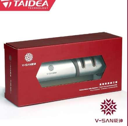 Afilador de cuchillos de cocina Taidea V-SAN Deluxe Herramienta para afilar cuchillos de diamante de tres etapas profesional TV1702 h4